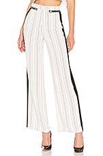 Lovers + Friends London Striped Pant in White Pinstripe