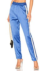 Lovers + Friends Tailored Track Trouser in Blue Combo