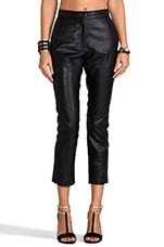 Wilson Vegan Leather Trouser in Black