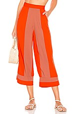 Lovers + Friends Ethal Pant in Coral Stripe
