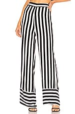 Lovers + Friends Lux Pant in Black & White