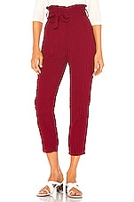 Lovers + Friends Irving Pant in Burgundy