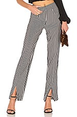 X REVOLVE Arya Pant in Black & White Stripe