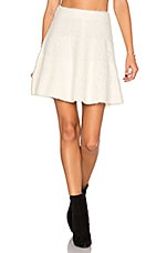 Be Flirty Skirt in Ivory