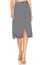 Take Me Away Skirt in Navy Stripe