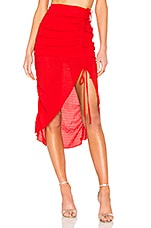 Lovers + Friends Brooke Midi Skirt in Cherry