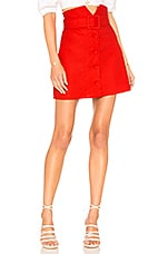 Lovers + Friends Hayes Skirt in Red Hot