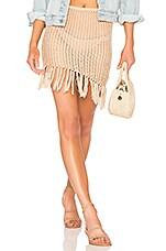 Lovers + Friends Lou Crochet Skirt in Tan