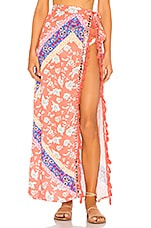 Lovers + Friends Lady Wrap Skirt in Boho Floral