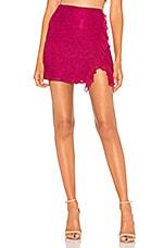 Lovers + Friends Arabella Skirt in Berry