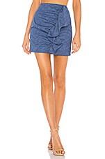 Lovers + Friends Annie Mini Skirt in Cobalt