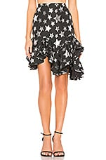 Lovers + Friends Josie Skirt in Black & Silver