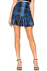 Lovers + Friends Brent Mini Skirt in Blue & Black