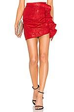 Lovers + Friends Dixon Mini Skirt in Firecracker Red