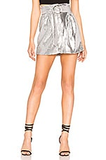 Lovers + Friends Monique Mini Skirt in Silver