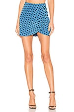 Lovers + Friends Armella Mini Skirt in Sea Blue