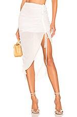 Lovers + Friends Brooke Midi Skirt in White