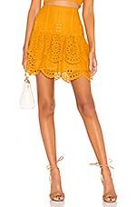Lovers + Friends Chantelle Mini Skirt in Mustard