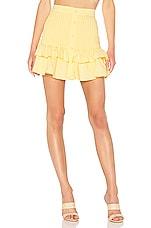 Lovers + Friends Beau Mini Skirt in Lemon