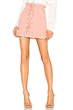 Lovers + Friends Emily Mini Skirt in Blush