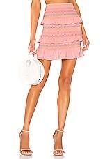 Lovers + Friends Kora Mini Skirt in Pink Lemonade