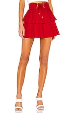 Lovers + Friends Gwen Mini Skirt in Red