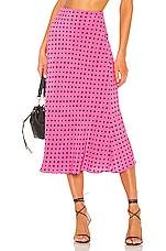 Lovers + Friends Madalena Midi Skirt in Bubblegum Pink