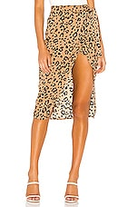 Lovers + Friends Marla Skirt in Tan Leopard