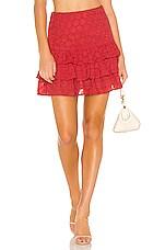 Lovers + Friends Jones Mini Skirt in Tomato Red