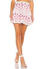 Lovers + Friends Hugh Mini Skirt in White & Pink