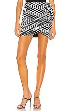 Lovers + Friends Piper Mini Skirt in Black & White