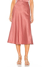 Lovers + Friends Madalena Midi Skirt in Deep Rose
