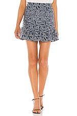 Lovers + Friends Byron Mini Skirt in Slate Blue