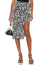 Lovers + Friends Marla Skirt in Black Leopard