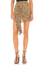 Lovers + Friends Ginny Mini Skirt in Cheetah Print