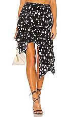 Lovers + Friends Albany Skirt in Black Polka Dot