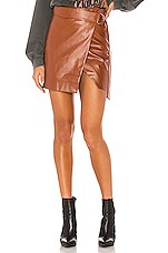 Lovers + Friends Kyrie Mini Skirt in Chestnut Brown