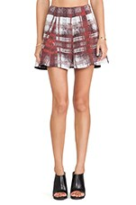 Tatum Skirt in Merlot Plaid