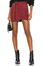 Lovers + Friends Alana Skirt in Red Leopard