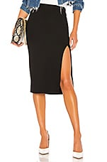 Lovers + Friends Aubrey Midi Skirt in Black