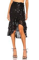 Lovers + Friends Natalie Midi Skirt in Black