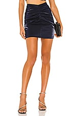 Lovers + Friends Napoli Mini Skirt in Indigo Blue