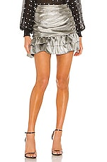 Lovers + Friends Silvia Skirt in Silver