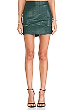 Good To Be Bad Mini Skirt in Evergreen Crocodile
