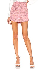 Lovers + Friends Aria Mini Skirt in Pink Multi