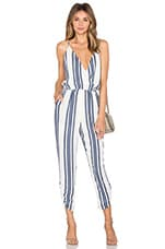 Lovers + Friends Jubilee Jumpsuit in Navy Stripe