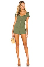 Lovers + Friends Karissa Romper in Green