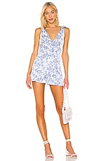 Lovers + Friends Aden Romper in French Blue