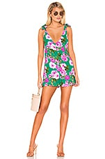 Lovers + Friends Fly Free Romper in Kelly Green Floral