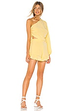 Lovers + Friends Mayer Romper in Pastel Yellow